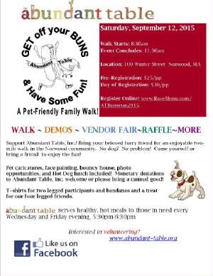 Dog And Family Walk